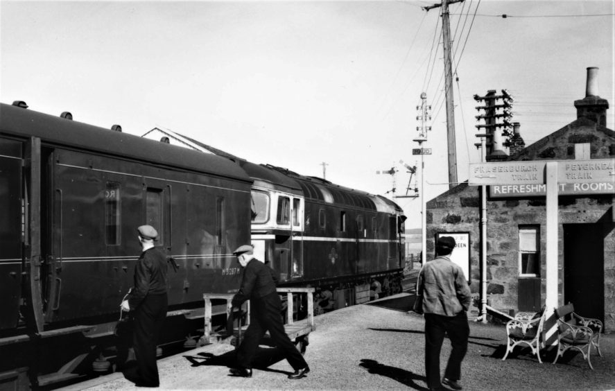 Maud Railway Station in 1965