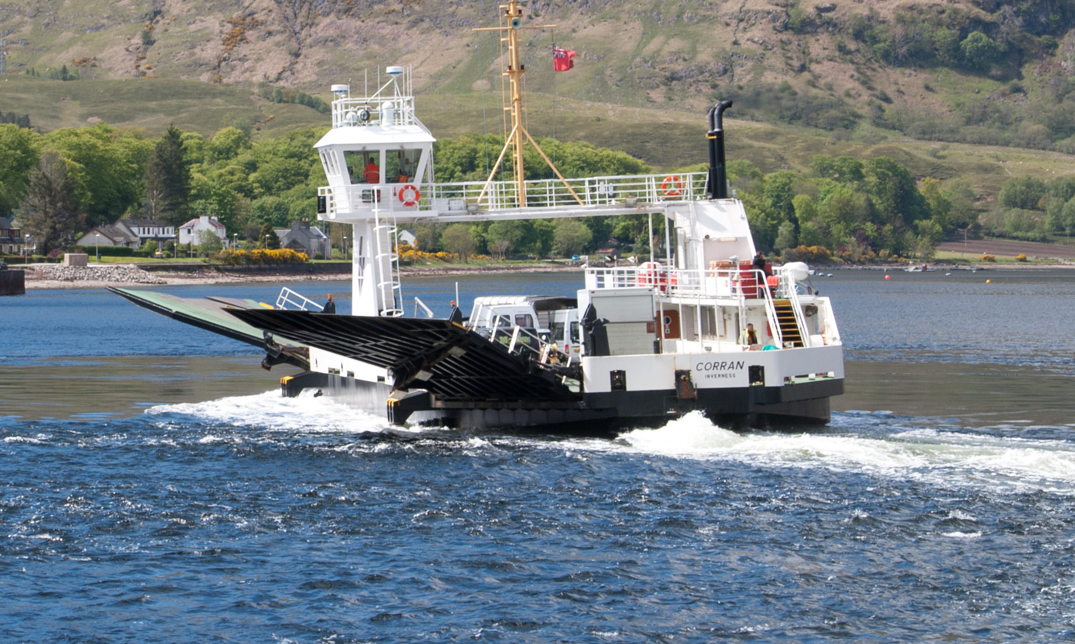 The Corran Ferry crosses the Narrows to Ardgour