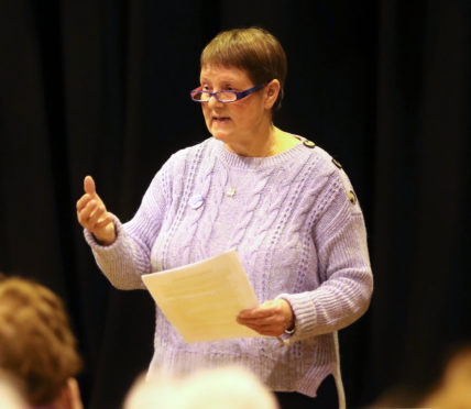 OpenNess co-founder Evelyn Grant chaired the meeting as councillors and members of the public gathered to share their views