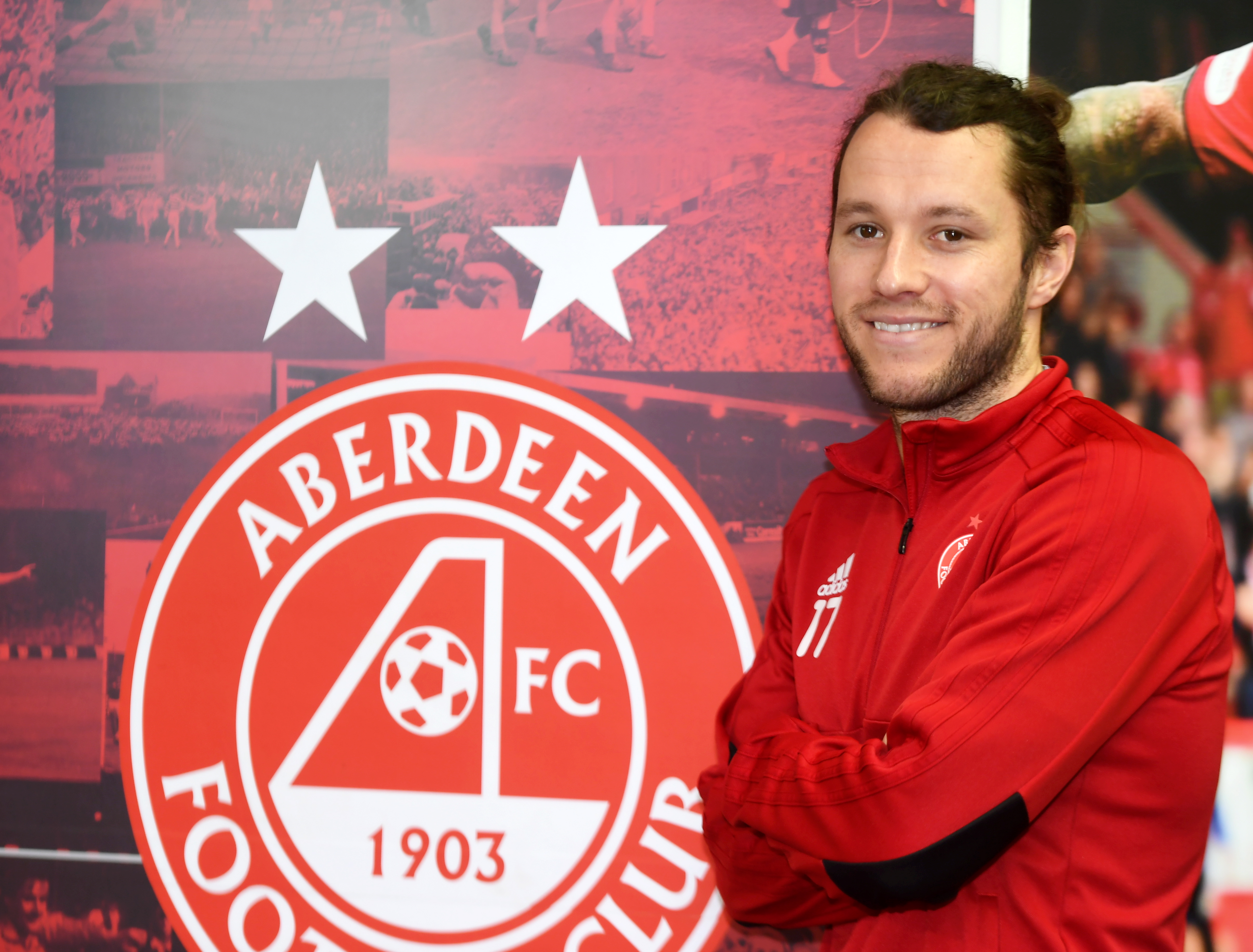 Aberdeen FC's Stevie May. CR0007012 Pic by Chris Sumner Taken 15/3/19
