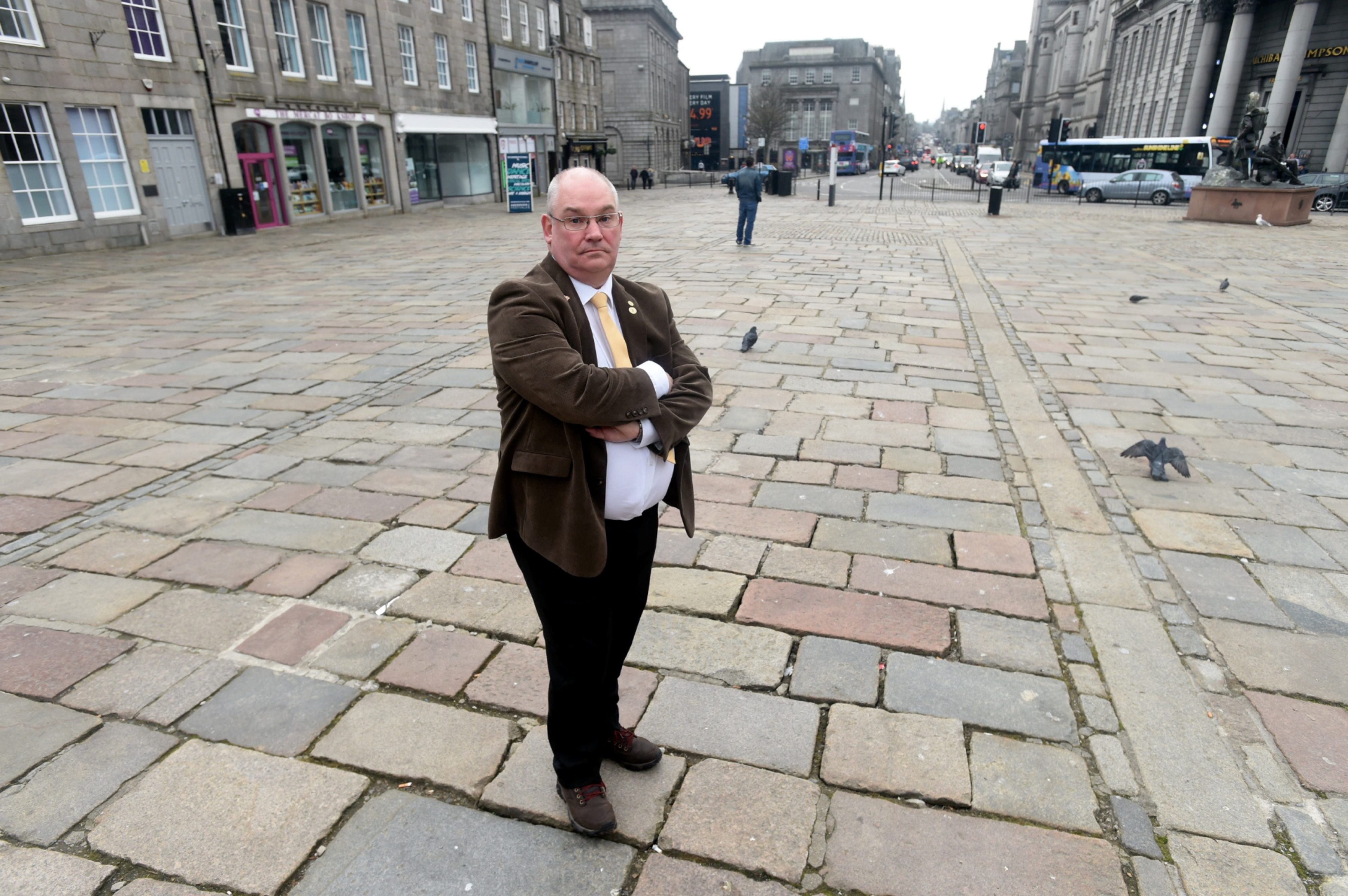 Dell Henrickson (pictured) has found that 44 buildings in the Castlegate require urgent safety work. Picture by Heather Fowlie.