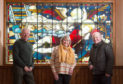 Pictured: Rhoda Burns, chairwoman of Friends of Forglen Hall with Andrew Webster, secretary and Jim Bayne, secretary of Alvah & Forglen Community Council)  Pictures by Jason Hedges