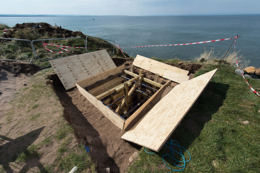 Revealed: Huge 10ft section of ancient defensive wall