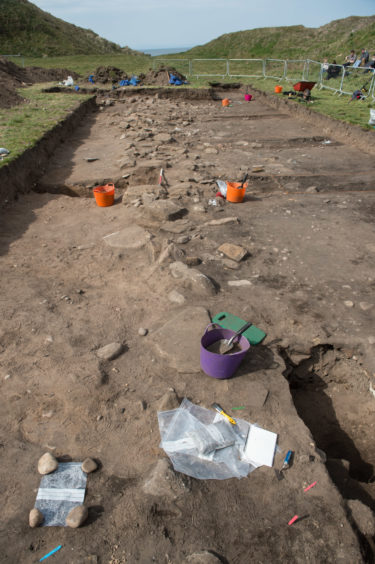 Archaeological dig in Burghead