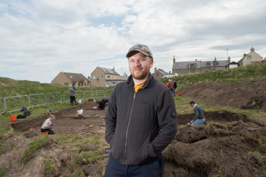 Head of Archaeology at Aberdeen University Gordon Noble at one of the excavation sites.