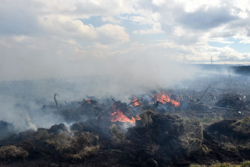 Game keepers are keeping a watchful eye on the situation as the land continues to burn.