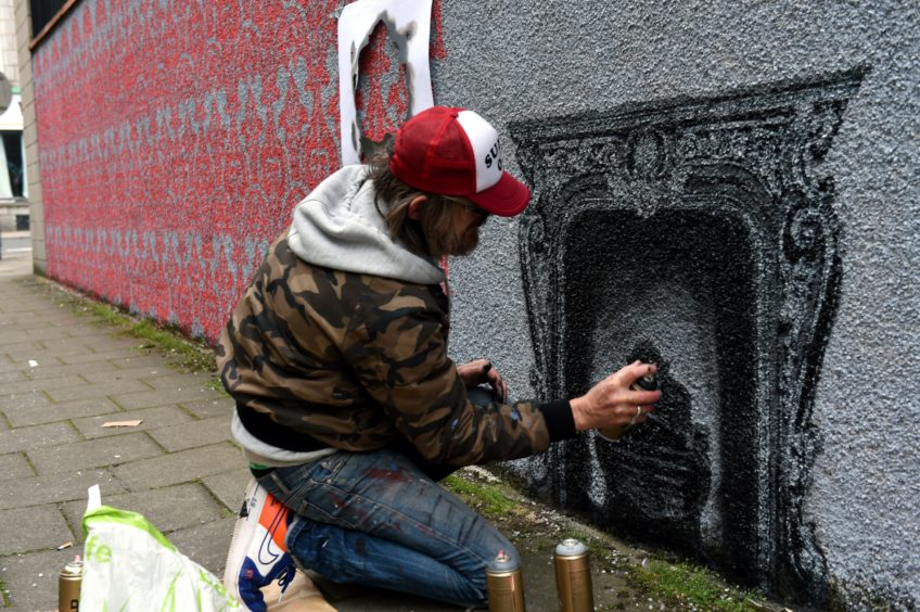 Nuart Aberdeen 2019. Picture of Dotmasters on Jopp's Lane, Aberdeen  Picture by KENNY ELRICK