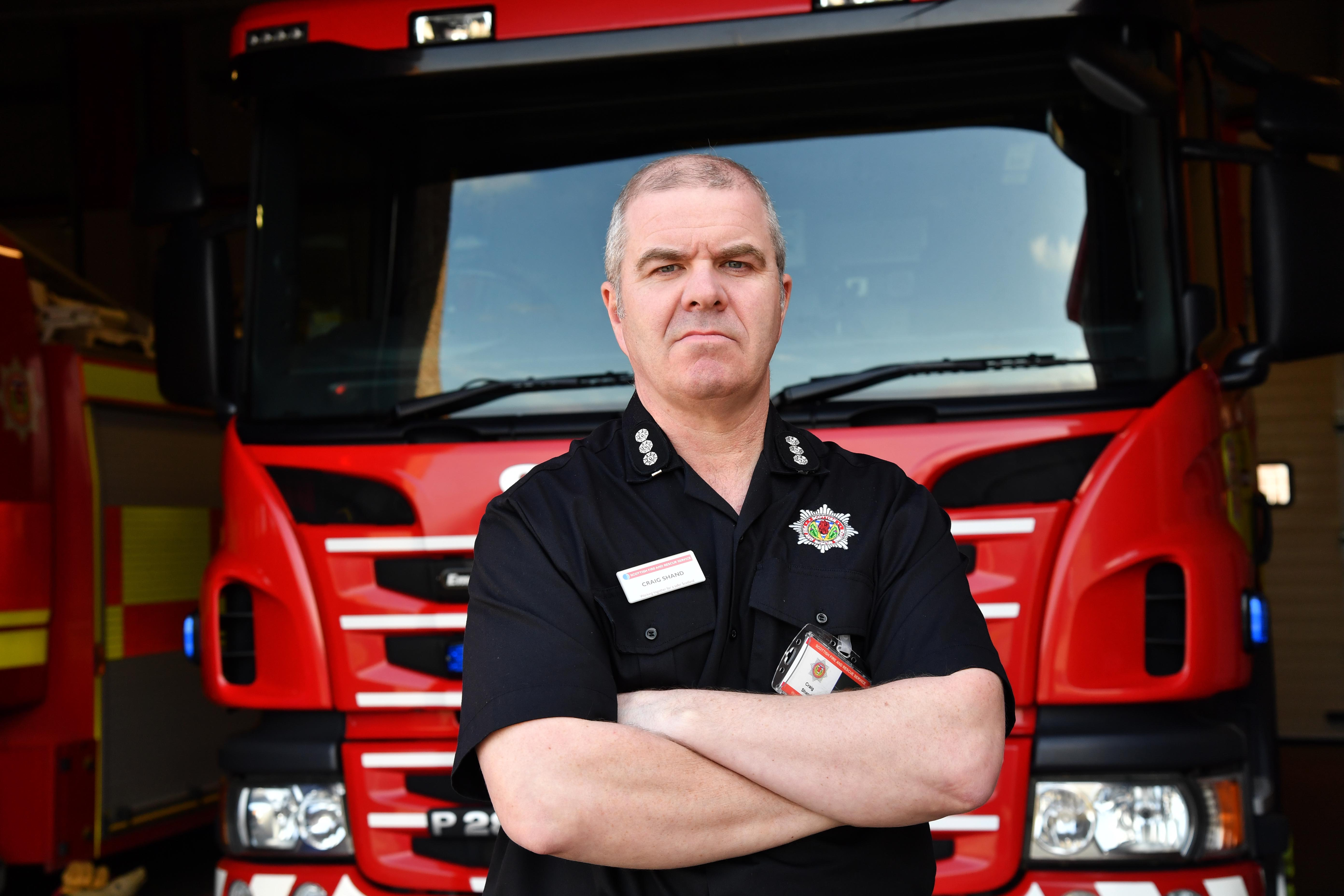 Craig Shand, Peterhead Station Manager, for the Scottish Fire and Rescue Service