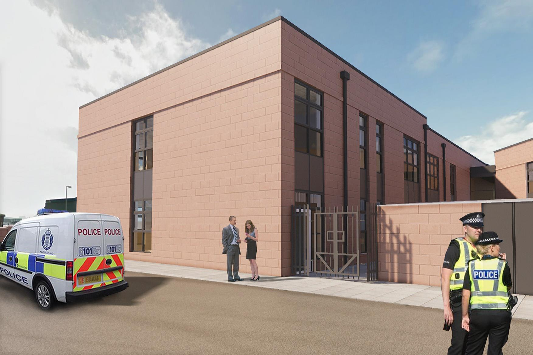 An artist's impression of the new Peterhead police station at Buchan House.