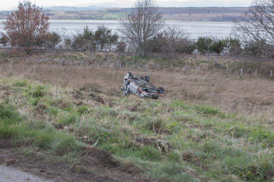 The scene on the A862 Inverness to Beauly road