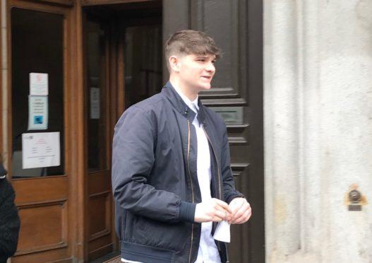 Cameron Reyboz leaving Aberdeen Sheriff Court.