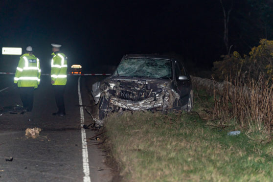 The scene on the A98 road between Buckie and Cullen.
