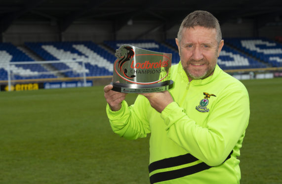 Inverness manager John Robertson wins the Ladbrokes Premiership Manager of the Month award for March