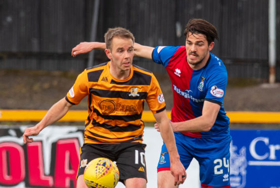 Charlie Trafford (right) scored the winner for Caley Thistle.