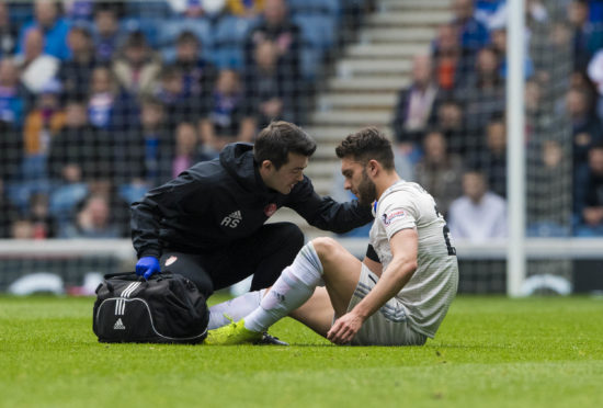 Connor McLennan limped off against Rangers.