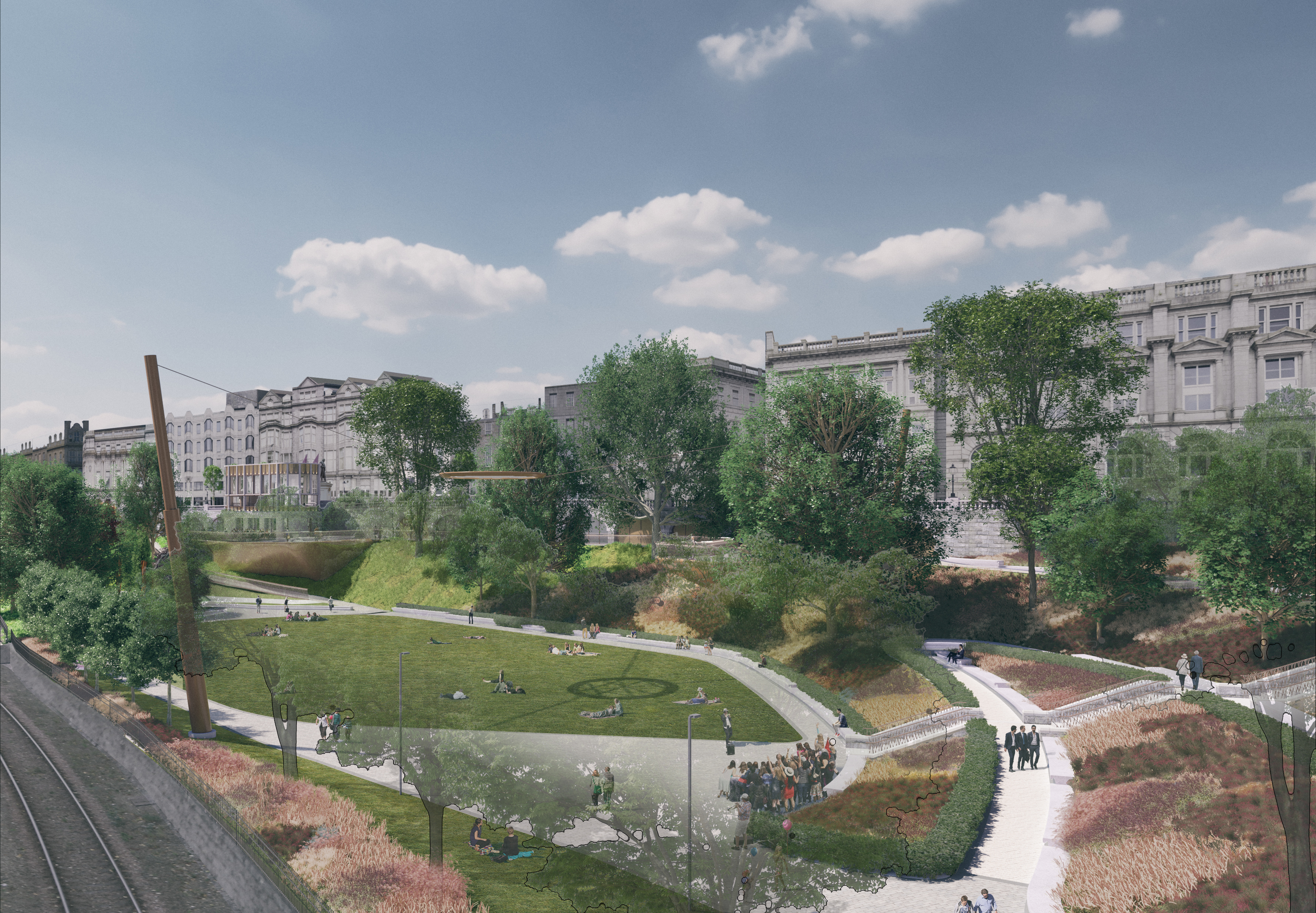 The plans for Union Terrace Gardens