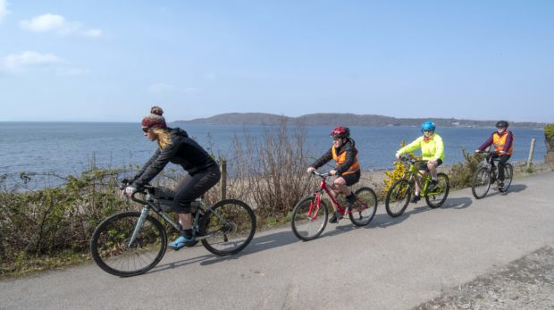 The official opening of the first traffic-free link between the rural communities of North Connel and Benderloch, Argyll and Bute.