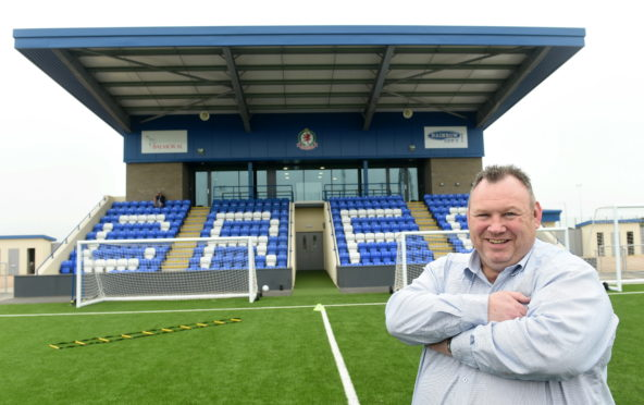 Cove chairman Keith Moorhouse at the Balmoral Stadium.