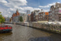 The famous floating flower market in Amsterdam.