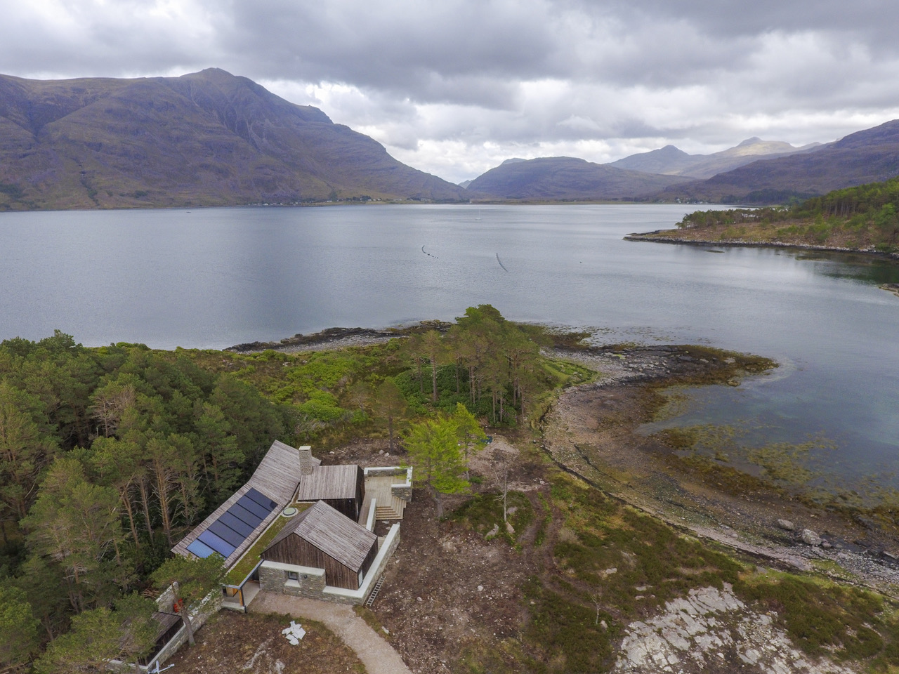 Lochside House in the north-west Highlands runs entirely off power from the sun.