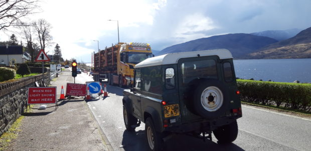 Congestion in Fort William is lengthening journeys on the A82