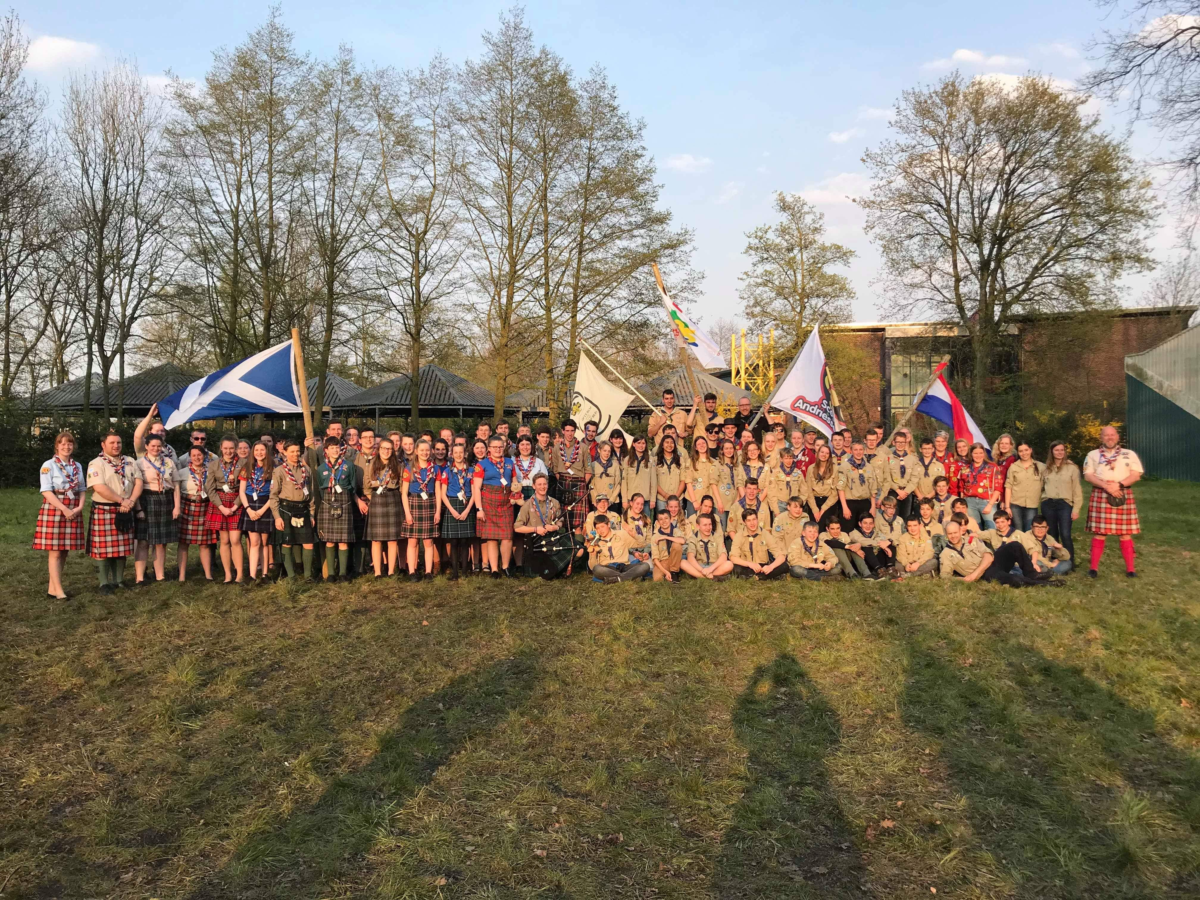 Scouts and guides from Aberdeenshire were among dozens given a surprise trip to the Netherlands.