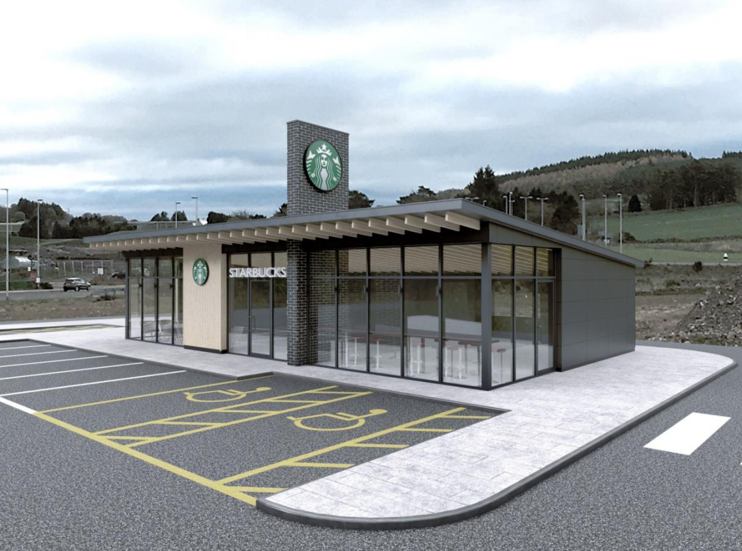 The proposed Starbucks in Westhill originally had a roof fin, which has now been removed in the agreed plans