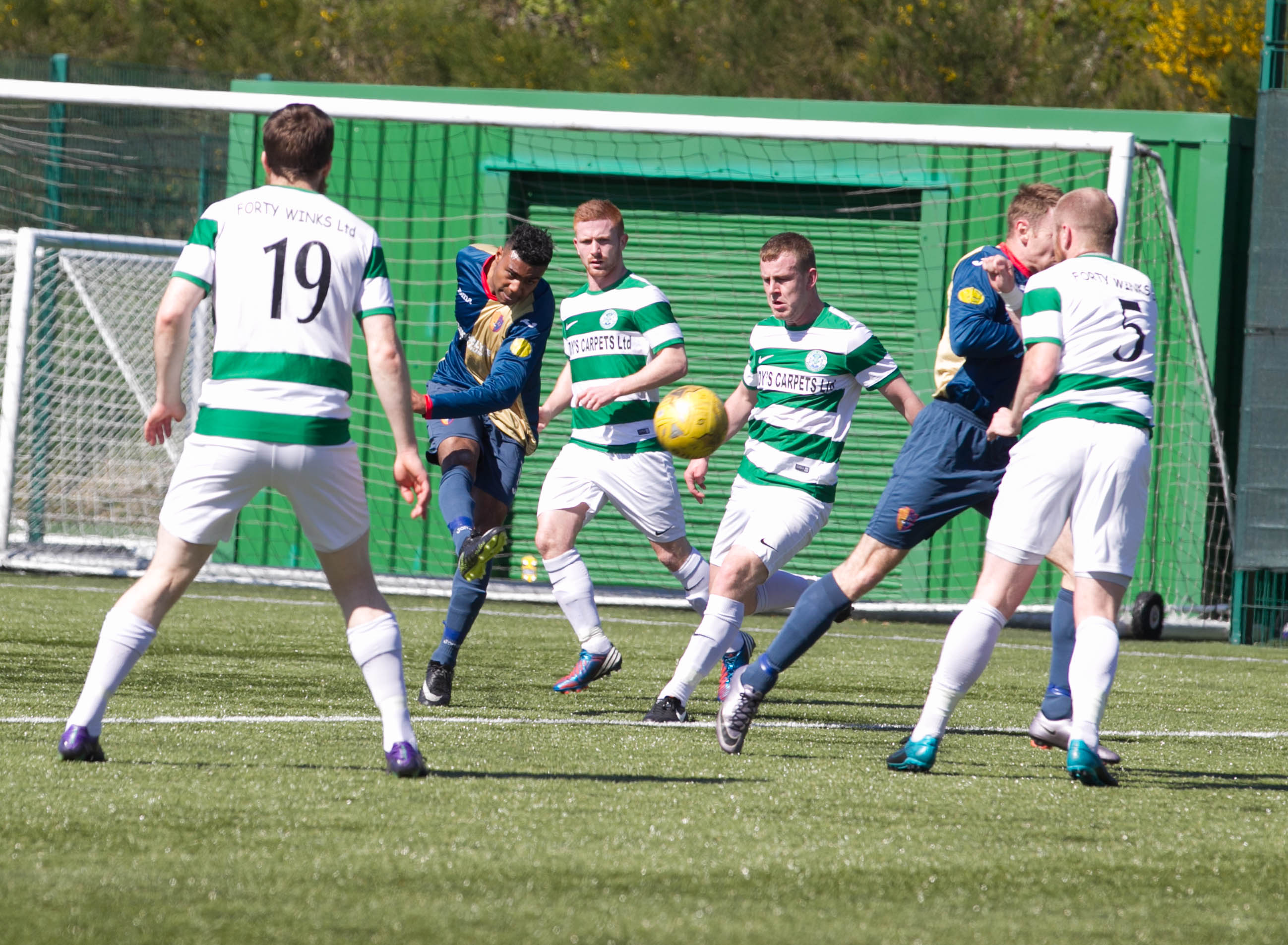 East Kilbride beat Buckie Thistle over two legs in 2017.