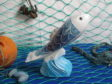 One of the ceramic painted fish sculptures to be sold as part of the Fishermen's Mission auction