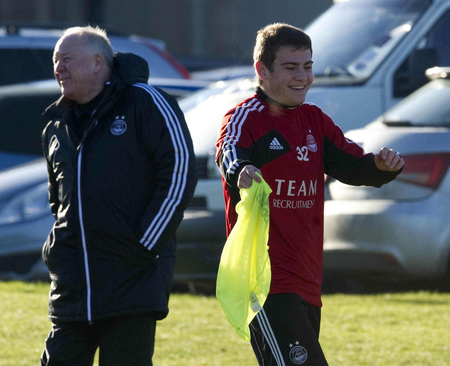 Craig Brown with a young Ryan Fraser in 2012.