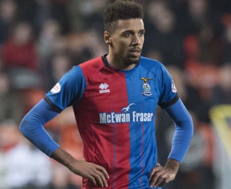 Nathan Austin in action for Inverness.