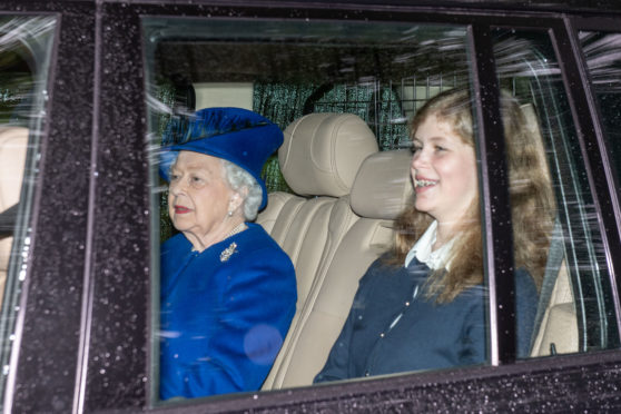 Her Majesty the Queen attends the Sunday service at Crathie Kirk.