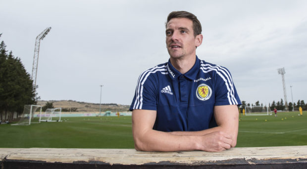 Craig Bryson on Scotland duty.