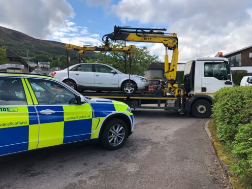 34 untaxed vehicles were discovered over course of the joint two-day operation between police and the DVLA