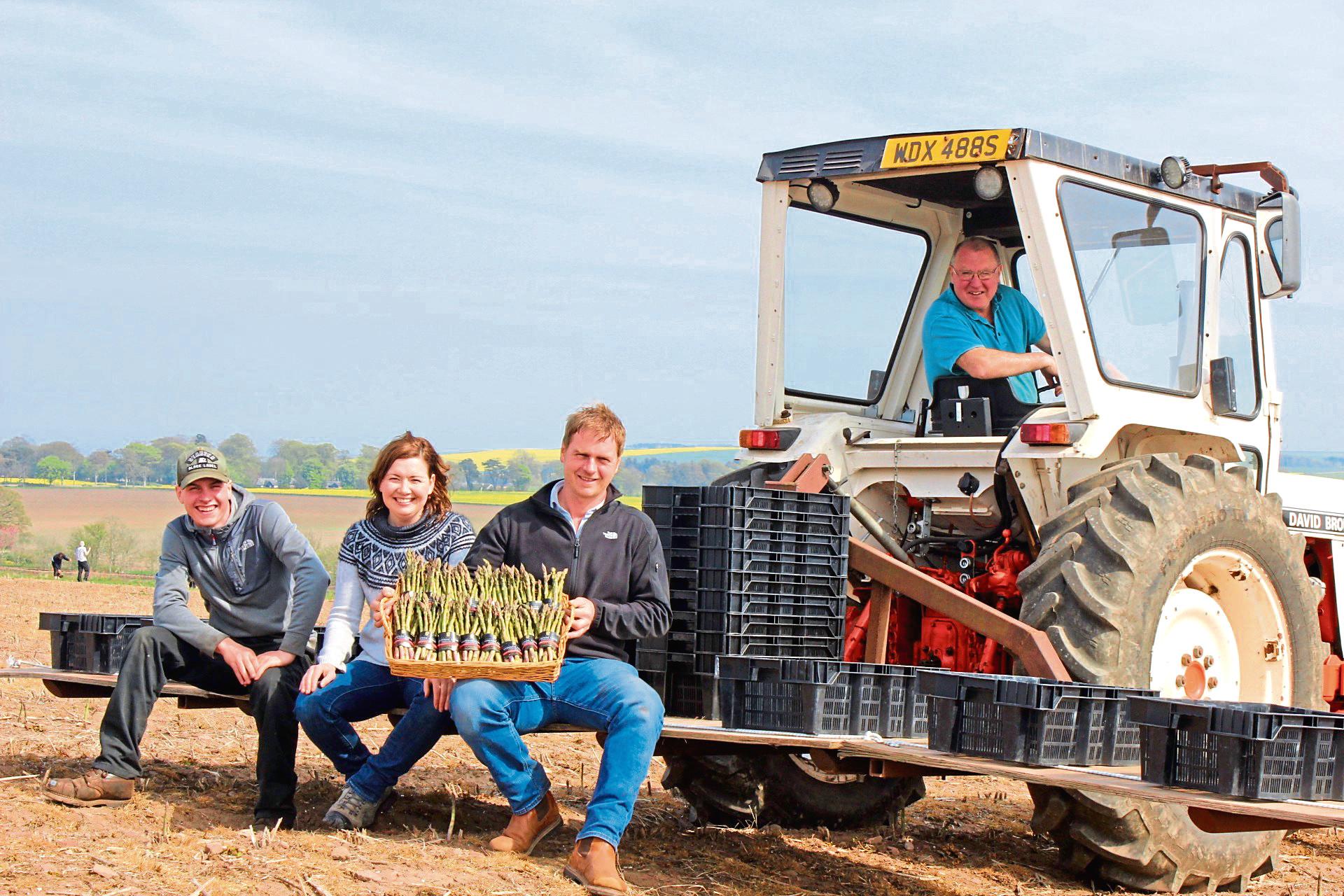 Reece McEwan, Jillian McEwan, Neil McEwan and Raymond McEwan of Myreside Farms Produce.