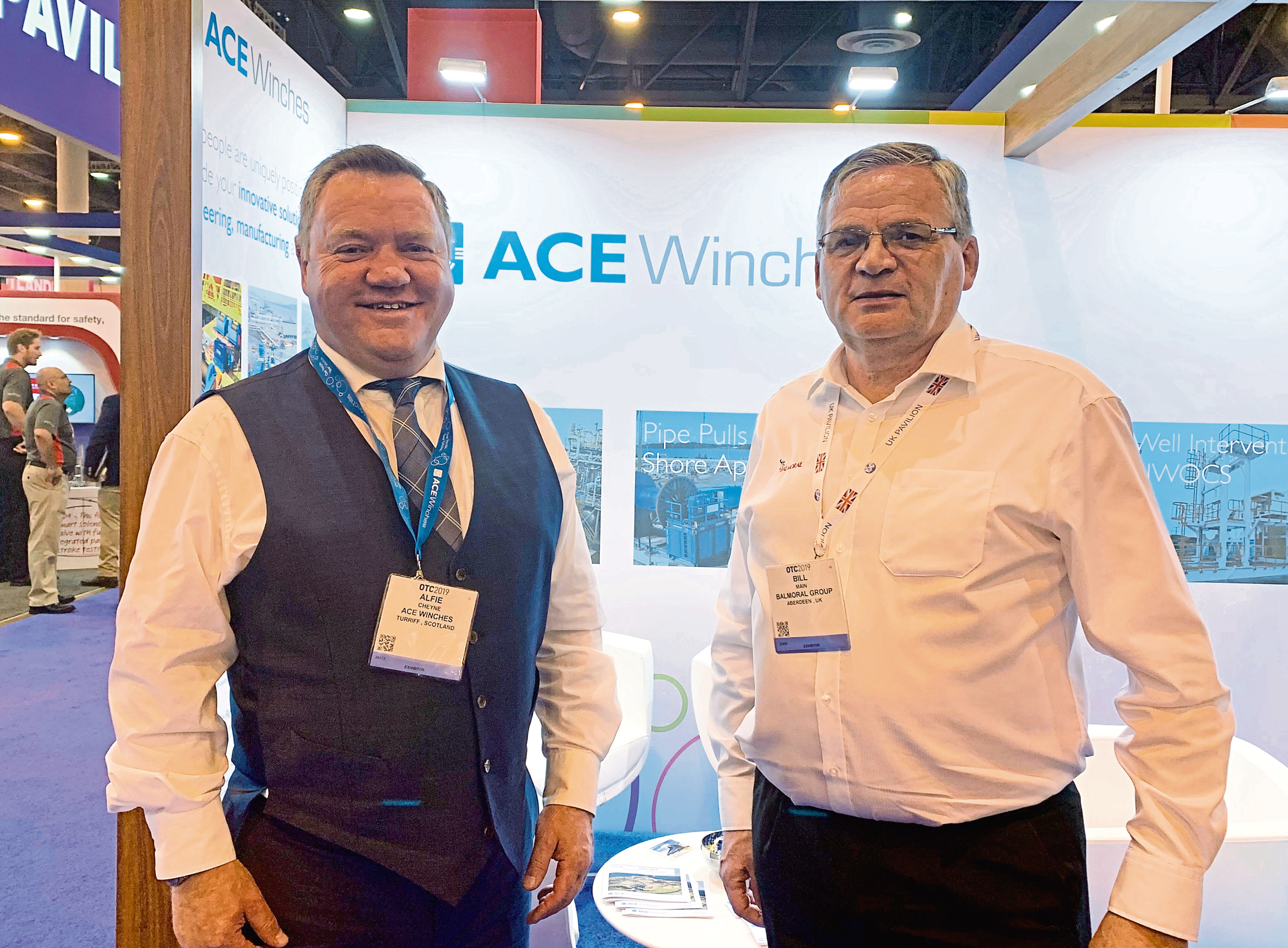 alfie cheyne, left, chief executive of ace Winches and Bill Main, finance director at Balmoral group