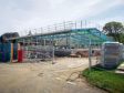 Construction of the new members' building at the Royal Highland Show.