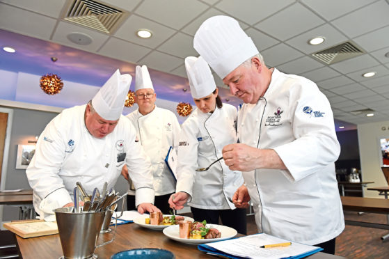 CR0009538 North East of Scotland Chef and Restaurant of the Year 2019 cook-off at North East Scotland College, Gallogate.  Picture by KENNY ELRICK     27/05/2019
