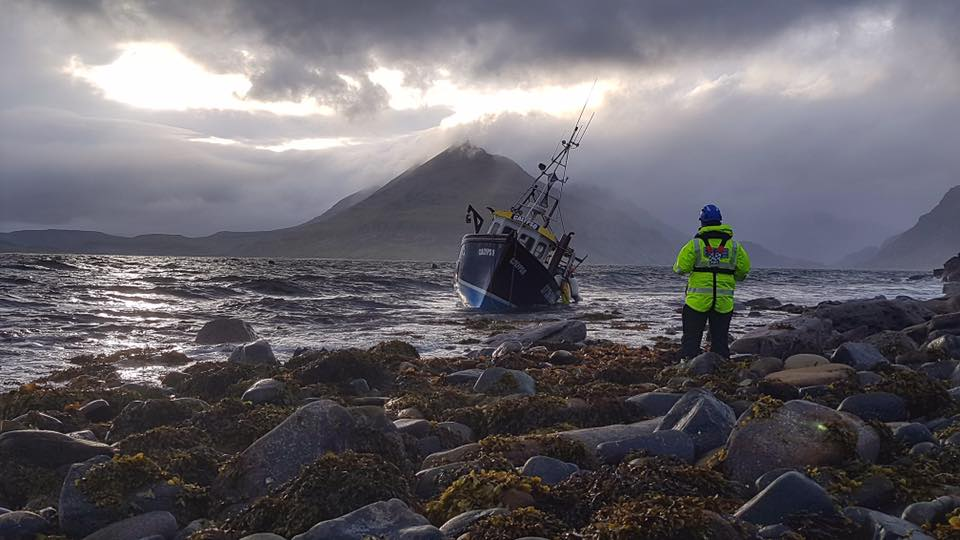 The vessel broke free from its mooring on Sunday evening
