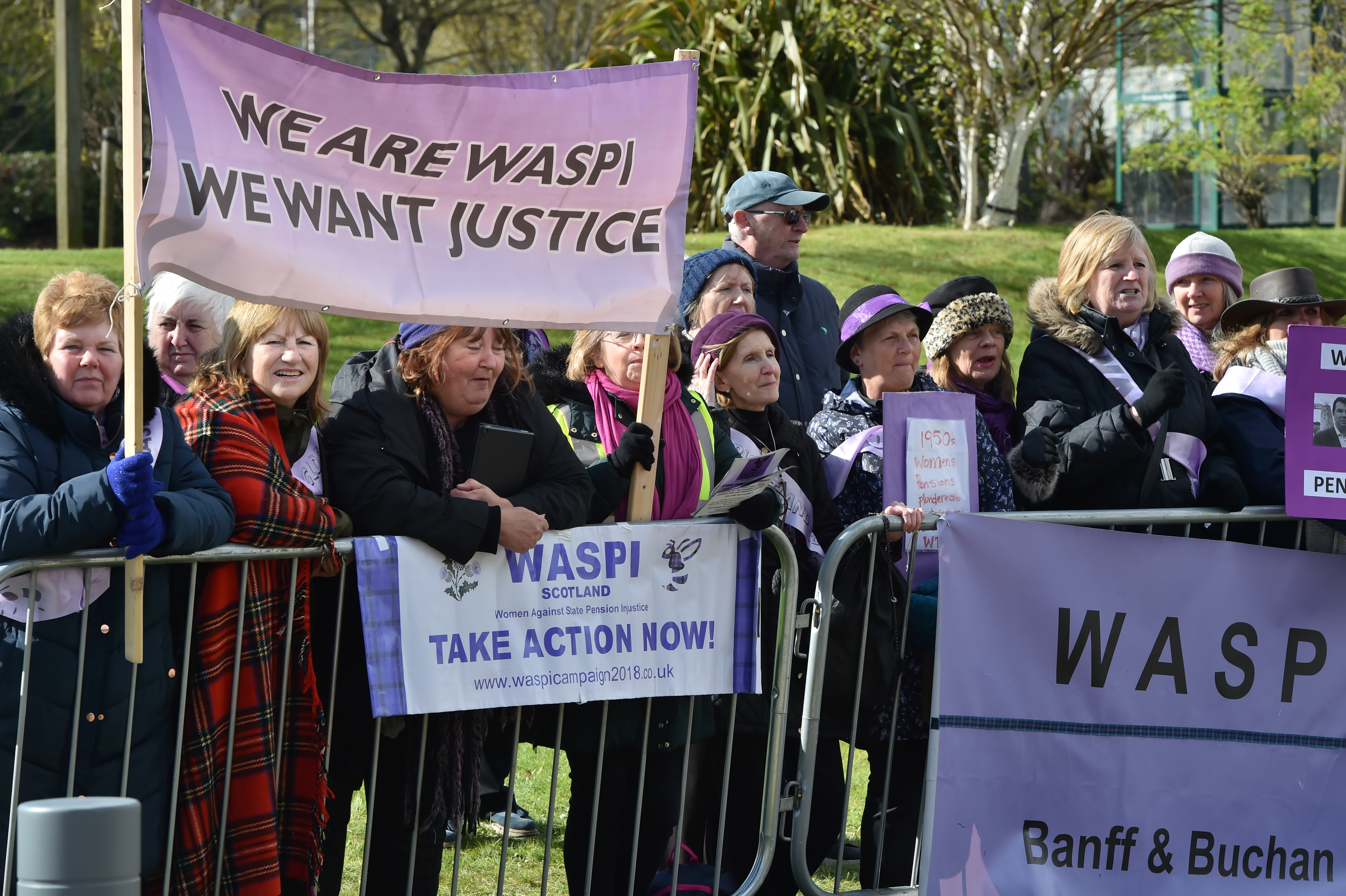 WASPI campaigners protested the conference