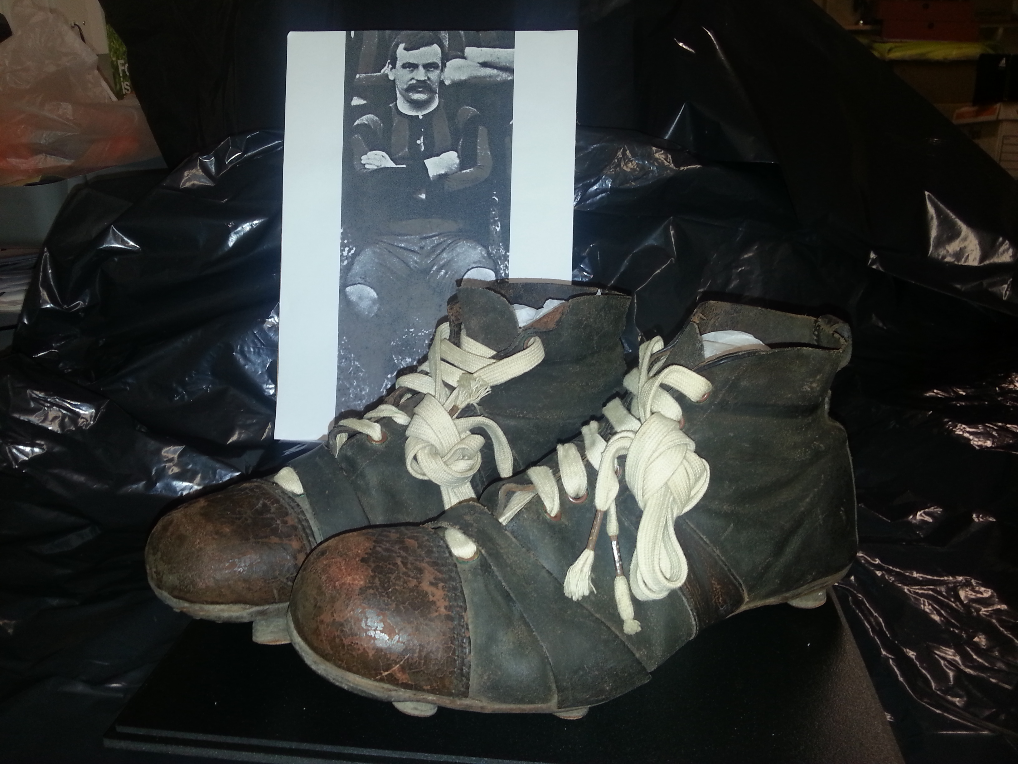A prized pair of 1904 football boots are part of the Aberdeen Collection.