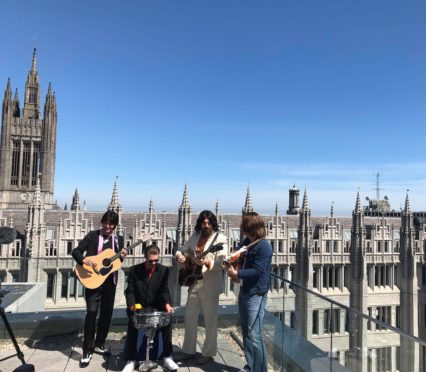 The Fab Four atop Marischal Square