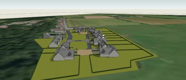 Artists impression of the new design Culloden buildings