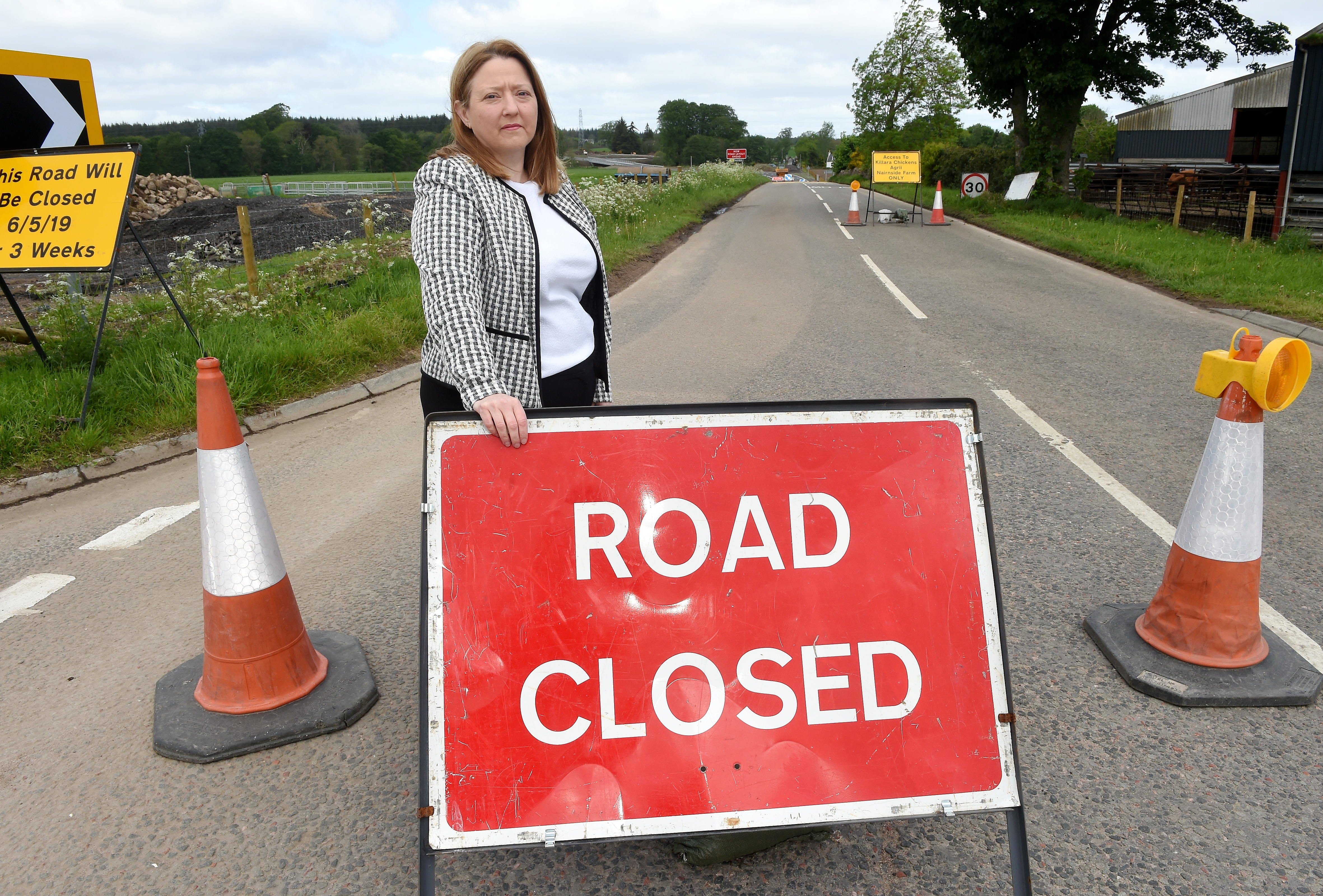 Christine Sinclair of the Cawdor Tavern who is concerned over the loss of business during the closure of the road at White Bridge for construction work.