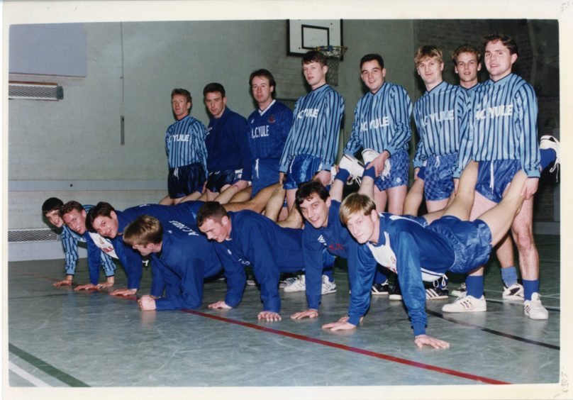 Cove Rangers - Training for Tennants Scottish Cup. Picture taken 17 December 1989.