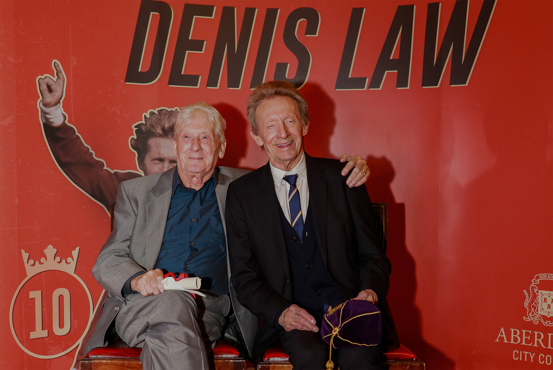 Football great Denis Law is mourning the loss of his older brother, Joe. Pic: John Gubba.