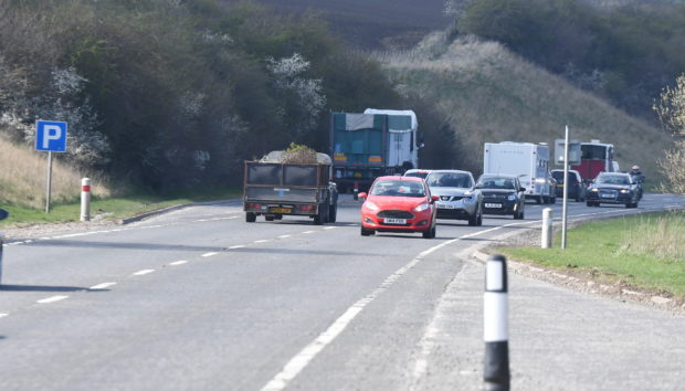 Locator of the A96 north of Inverurie. CR0007948 Pic by Chris Sumner Taken 5/4/19