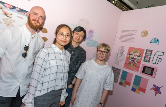 Glasgow School of Art students Jonas Gentle, Min Zhou, Zhicheng Xu and Lina Wilckens.
