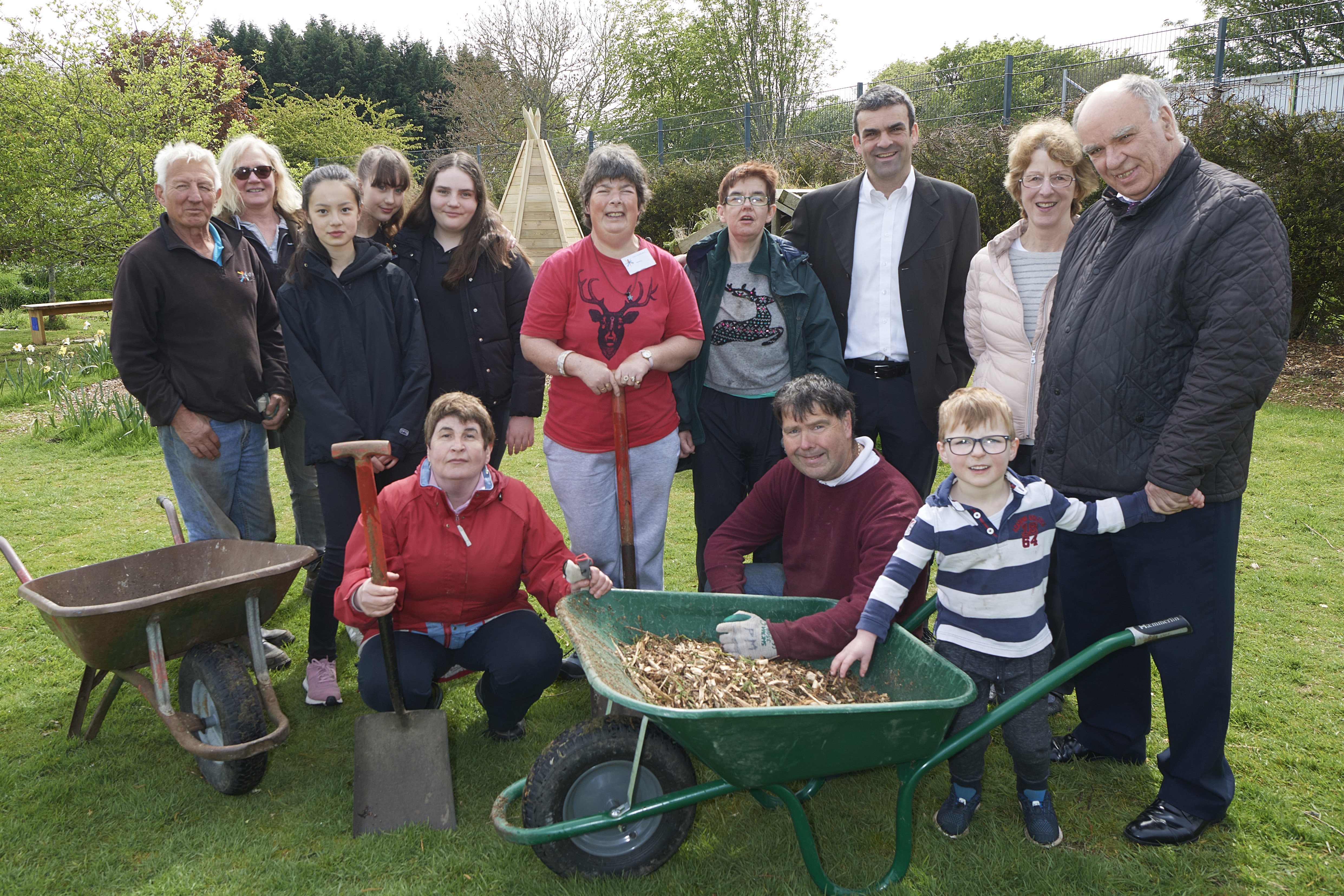 Members of the Grow Project, who have received a welcomed boost of £20,000 to fund operations for the upcoming year