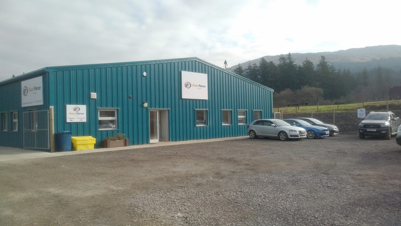 Gael Force Fusion's premises in Barcaldine, near Oban, where they will vacate